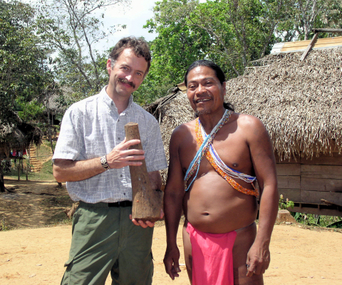 That's me on the left at the Parara Puru Embara village in Panama, negotiating for a piece of cocobolo. Photo by Carole McIvor.