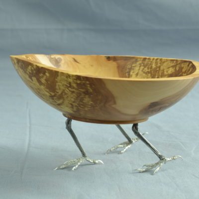 Walking Bowl (apple, pewter)